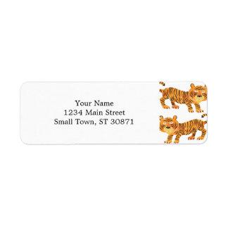 chinese tiger. return address label