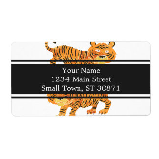 chinese tiger. shipping label