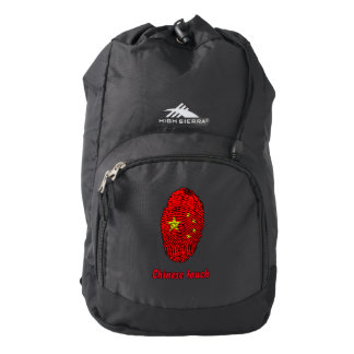 Chinese touch fingerprint flag backpack