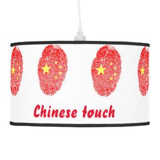 Chinese touch fingerprint flag pendant lamp
