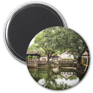 Chinese traditional corridor and courtyard magnet