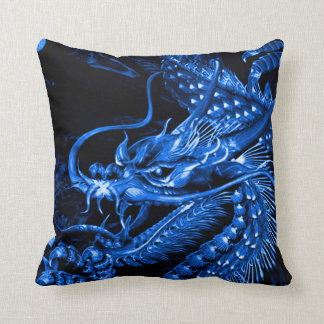Chinese Water Dragon Art Throw Pillow