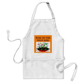 chinese wok cooking standard apron