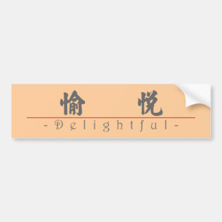 Chinese word for Delightful 10280_4 pdf Bumper Stickers