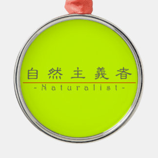 Chinese word for Naturalist 10380_2.pdf Metal Ornament