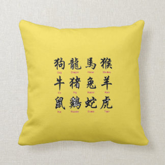 Chinese Writing Throw Pillow