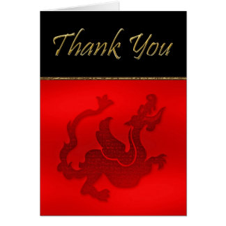 Chinese year of dragon Thank You card with dragon
