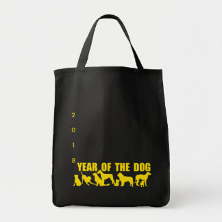Chinese Year of The Dog 2018 Black Silhouettes G b Tote Bag