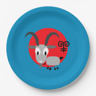 Chinese Year of the Goat Paper Plates 9 Inch Paper Plate