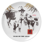 Chinese Year of the Goat / Ram Gift Plates