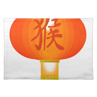 Chinese Year of the Monkey Paper Lantern Placemats