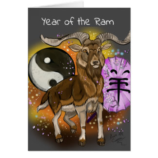 Chinese Year of the Ram Card