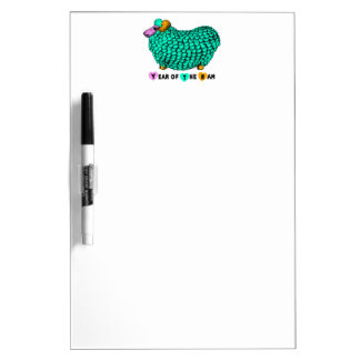 Chinese Year of The Ram or Sheep 4 Dry Erase Board