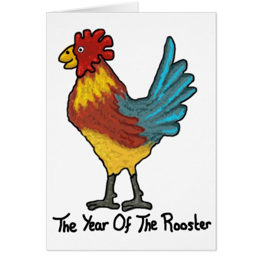 Chinese Year Of The Rooster Card