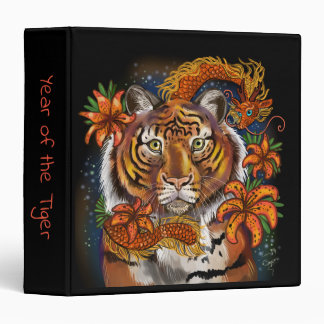Chinese Year of the Tiger 3 Ring Binder