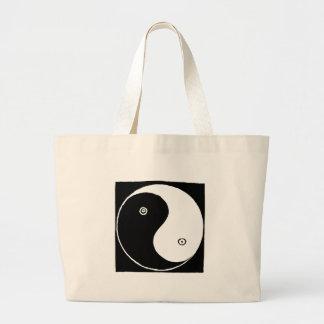 Chinese Yin Yang Symbol Large Tote Bag