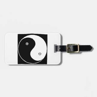 Chinese Yin Yang Symbol Luggage Tag