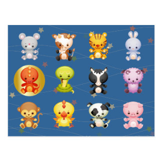 Chinese Zodiac Animals Year of the Dragon Postcard