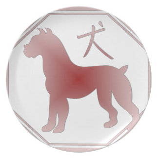 chinese zodiac dog dinner plates