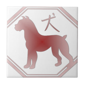 chinese zodiac dog tile
