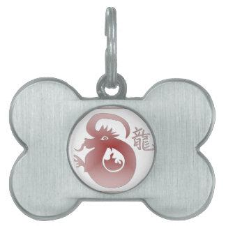 chinese zodiac dragon pet tags