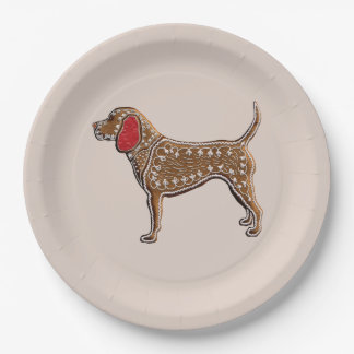 Chinese Zodiac Gingerbread Dog Paper Plate