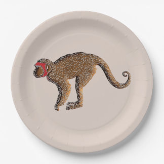 Chinese Zodiac Gingerbread Monkey 9 Inch Paper Plate