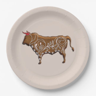Chinese Zodiac Gingerbread Ox Paper Plate