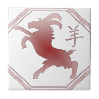 chinese zodiac goat tile