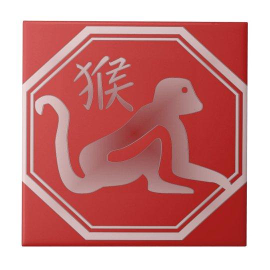 chinese zodiac monkey tiles