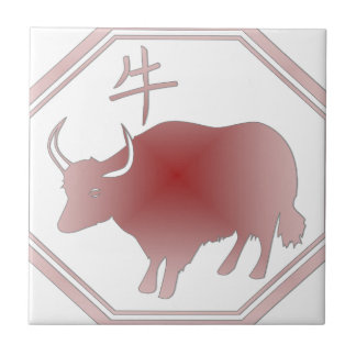 chinese zodiac ox tile