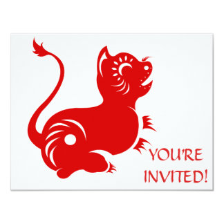 CHINESE ZODIAC PAPERCUT TIGER ILLUSTRATED CARD
