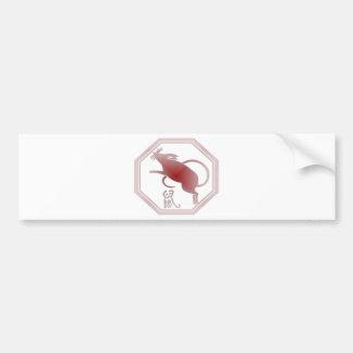 chinese zodiac rat bumper sticker