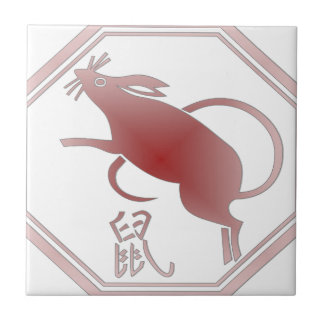 chinese zodiac rat tile