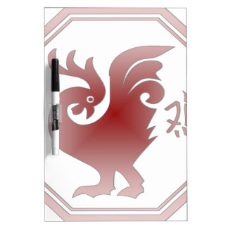 Chinese Zodiac Rooster Dry Erase White Board