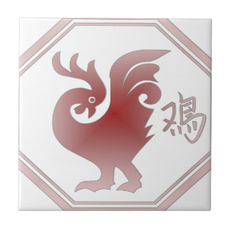 Chinese Zodiac Rooster Tile
