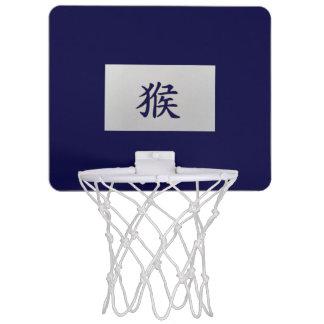 Chinese zodiac sign Monkey blue Mini Basketball Hoop