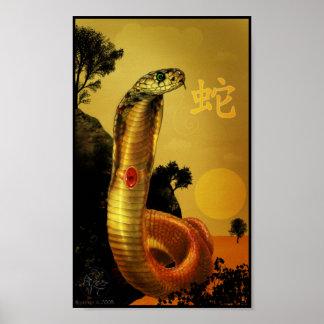 Chinese Zodiac Snake Poster