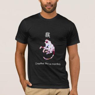 Chinese Zodiac T-shirt - Creative like a monkey