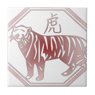 chinese zodiac tiger tile
