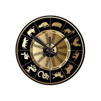 Chinese Zodiac Wall Clock