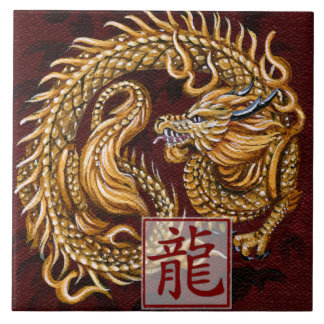 Chinese Zodiac Year of the Dragon Tile
