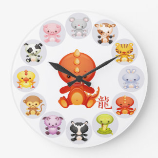 Chinese Zodiac Year of the Dragon Wallclock