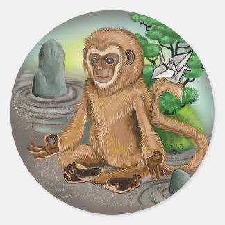 Chinese Zodiac Year of the Monkey Classic Round Sticker