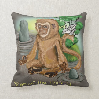 Chinese Zodiac Year of the Monkey Throw Pillow