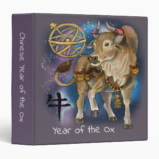 Chinese Zodiac Year of the Ox 3 Ring Binder