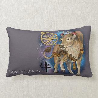 Chinese Zodiac Year of the Ox Lumbar Pillow