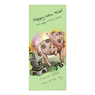 Chinese Zodiac Year of the Pig Card