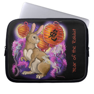 Chinese Zodiac Year of the Rabbit Laptop Sleeve
