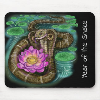 Chinese Zodiac Year of the Snake Mouse Pad
